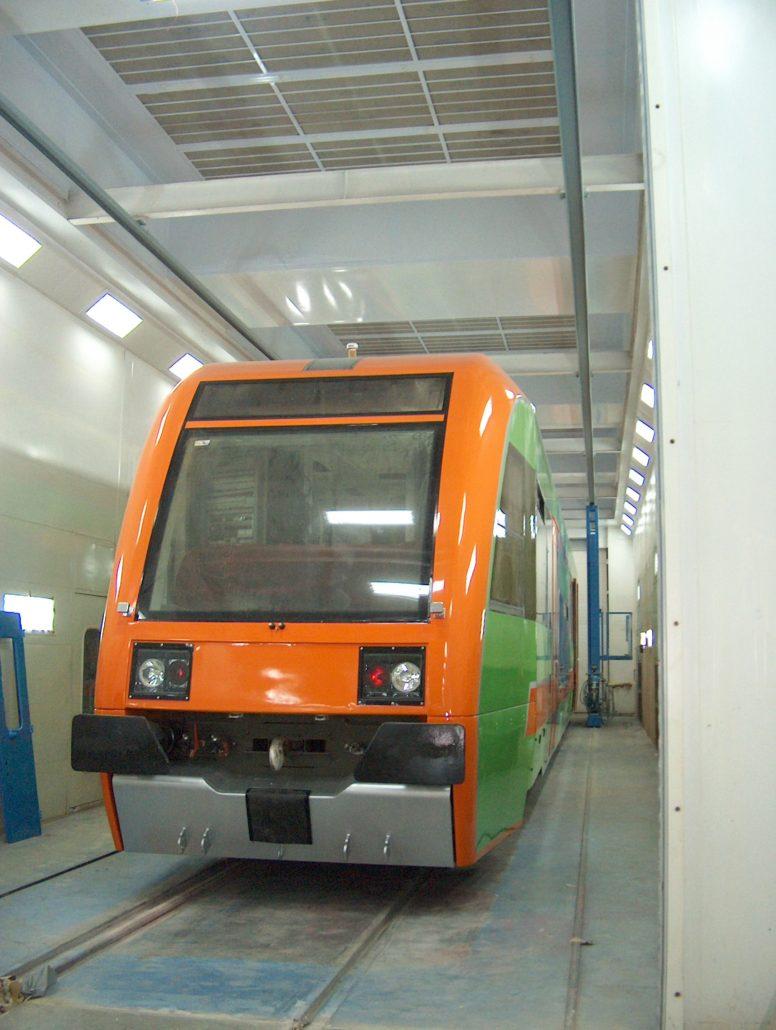 lakierowanie pociągów