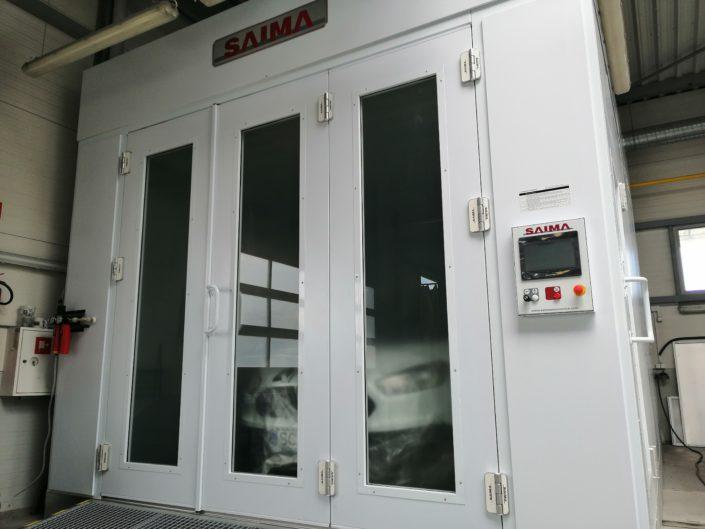 brama kabiny lakierniczej