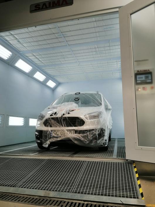 kabina lakiernicza samochodowa